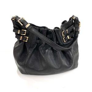 Michael Kors women's black soft leather handbag